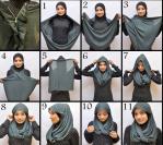 Cara memakai jilbab, Cara memakai jilbab modern